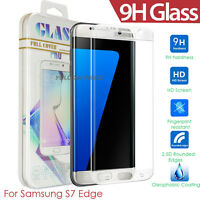 Slim Full Covered Clear Real Glass Screen Protector For Samsung Galaxy S7 Edge