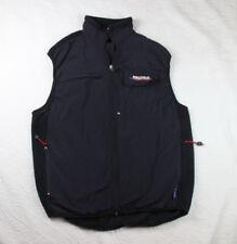 Vintage Nautica Competition Vest XL Black Full Zip Fleece Mens Made USA m3