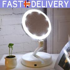 Make Up Mirror 10x Magnification Illuminated Cosmetic LED Folding Double Side