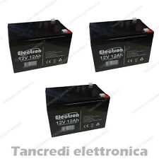 KIT BATTERIE 36V 12Ah GEL/AGM CICLICHE DEEP-CYCLE BICI ELETTRICA - 3 x 12V