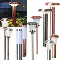 hochwertige Led Solar Leuchte warmweiß Edelstahl Gartenleuchte Solarlampe Lampe