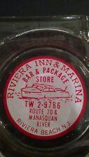 Riviera Inn Marina Bar Package Store Beach Shore NJ New Jersey Vintage Ash Tray