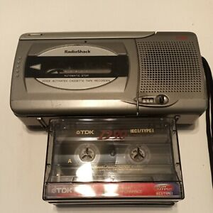 Radio shack CTR-123 Vintage Voice Activate Cassette Recorder Comes with 3 Tape