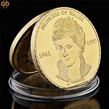 British Princess Diana UK The Royal Princess of Wales Diana Gold Coin Collection
