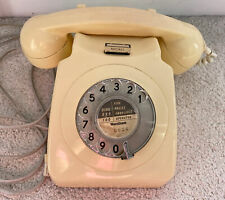 More details for gpo topaz yellow cream vintage 746 rotary pulse dial telephone