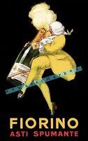 Fiorino 1922 Asti Spumanti Italian Vintage Poster Print Retro Style Liqueur