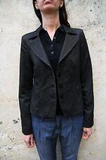 AJ Armani Jeans Blazer Grey Black Striped Stretch Fit Smart Jacket I42 Uk12