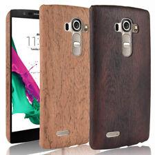 Per LG G4 G4s G4 BEAT Wood Texture poliuretano rivestito HARD CASE COVER