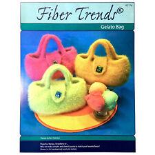 Felted Wool Purse Bag Pattern Gelato Bag by Bev Galeskas for Fiber Trends