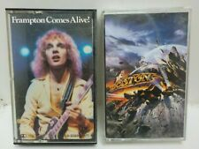 LOT OF (2) PETER FRAMPTON Frampton Comes Alive + BOSTON Walk on Cassette Tapes