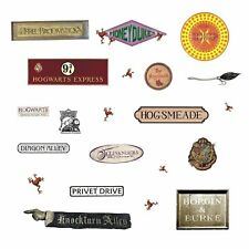 Harry Potter Signs 21 Peel & Stick Wall Decals Hogwarts Kids Room Decor Stickers