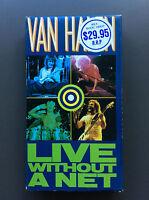 VAN HALEN - Live Without A Net VHS OZ PAL Video VG 1986 OOP 12 Tracks