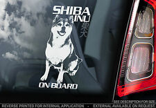Shiba Inu - Car Window Sticker - Japanese Dog on Board Sign Art Sign - TYP1