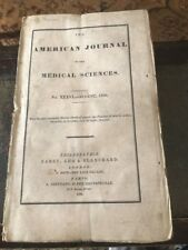 American Journal Medical Sciences~August 1836~wraps~antique Medicine~scarce
