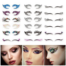 Temporary Eye Tattoo Stickers Waterproof Eyeshadow Eyeliner Makeup Halloween New