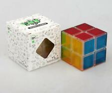LanLan Crystal Magic Cube Transparent 2X2X2 Twist Puzzle Speed Cube Toy Gift