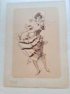 MAITRES DE L'AFFICHE VINTAGE FRENCH ART NOUVEAU PRINT- JULES CHERET-BONUS PLATEP