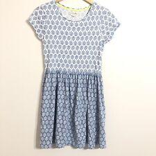 Johnnie B mini Boden Dress Size 15-16Y Scoop Neck Blue Short Sleeve