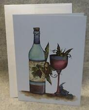 Amy Brown Fairy Too Much Wine Note Greeting Card Faery Fantasy Mythical