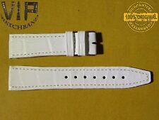 5 DAYS ONLY!! NEW OEM Authentic IWC strap 18mm alligator white IWA29278