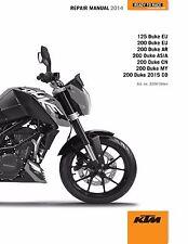 KTM Service Workshop Shop Repair Manual Book 2014 200 DUKE