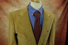 Vintage Wrangler Tan Corduroy Two Button Sports Coat Jacket Mens Size 42R Us