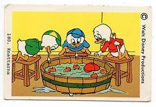 1970s Sweden Swedish Walt Disney Card - Donald Duck nephews Huey Dewey and Louie