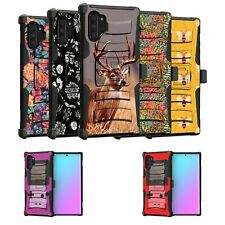 For Samsung Galaxy Note 10 Plus 6.8 Holster & Kickstand Case