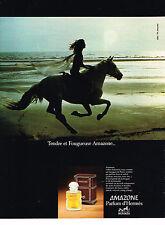PUBLICITE ADVERTISING 064  1978   AMAZONE  parfum d'HERMES
