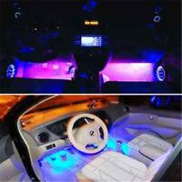 3LED 4pcs Car Charge Interior Accessories Floor Decorative Light Atmosphere Lamp