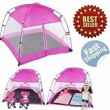 "American Girl Dolls Accessories Canopy Camping Tent Dining Tent Fits 18"" Doll"