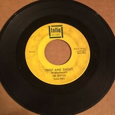 Beatles Twist And Shout There's A Place TOLLIE green writing rare version