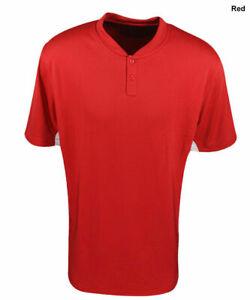 New Mizuno Youth Baseball Boys Size- Medium Red & White G2 Jersey