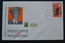 1964 Israel Stamp Event Cachet Cover Royal Visit King Baudouin of Belgium