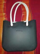 O bag borsa grande originale doppi manici fodera interna zebrata come nuova Obag