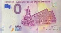 BILLET 0  EURO HONFLEUR CLOCHER EGLISE STE CATHERINE FRANCE 2019   NUMERO 4400