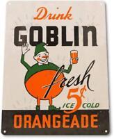 """""""Goblin Orangeade"""" Metal Decor Wall Art Retro Soda Cola Store Shop Sign"""