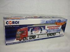 CORGI moderno Camion/ALAGGIO CC13826 Merc ACTROS Frigo Montgomery Nuovo di zecca & Boxed