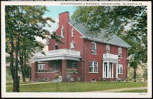 ZELIENOPLE PA Superintendent's Residence Orphans Home Vtg Pennsylvania Postcard