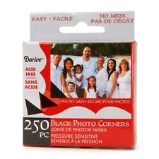 Darice 250-pc BLACK Photo Corners Adhesive ACID FREE Archival Quality