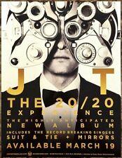 JUSTIN TIMBERLAKE 20/20 Experience Ltd Ed RARE NEW Mini Poster Window Display!