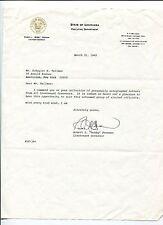 Robert Bobby Freeman Lieutenant Governor Louisiana Signed Autograph Letter