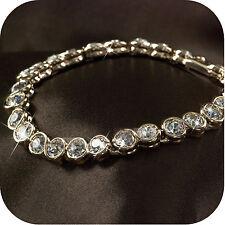 18k rose gold gp made with SWAROVSKI crystal wedding bride chain bracelet
