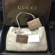 NWOT GUCCI Princy GG Guccissima Ribbon Bow Leather Shoulder Tote Bag