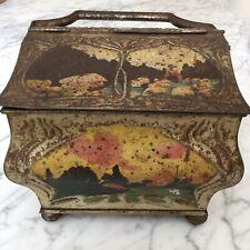 Boite biscuit Panier 1900 tôle litho Art Nouveau  HUNTLEY &PALMERS Jugendstil