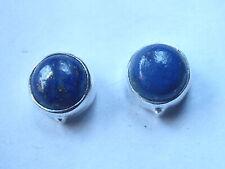 Lapis Lazuli Round Stud 925 Sterling Silver Earrings