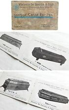 1930s CASKET CATALOG Illustrated BURIAL CASE COFFIN Italian Catholic Cross RARE!