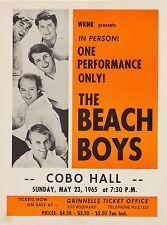 """The Beach Boys Cobo 1965 16"""" x 12"""" Photo Repro Concert Poster"""