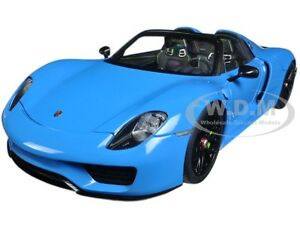 Box Dented PORSCHE 918 SPYDER WEISSACH PACKAGE BLUE  1/18 BY AUTOART 77924