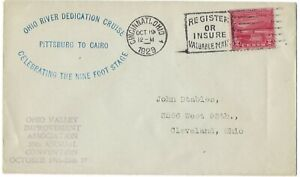 1929 FDC Ohio River canalization SC# 681 RS 1st Cachet Cincinnati OH cncl CV15